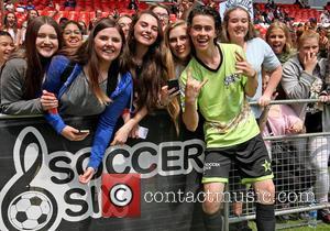 Nash Grier - Internet star Nash Grier at Celebrity Soccer Six at The Valley - Charlton, United Kingdom - Saturday...