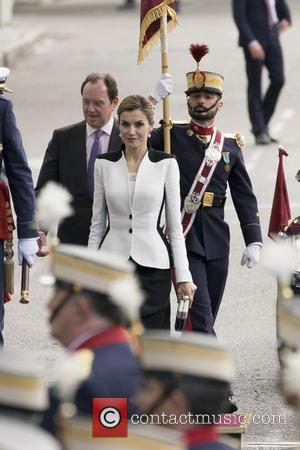 Queen Letizia of Spain - Queen Letizia and King Felipe VI of Spain attend the Armed Forces Day Hommage -...