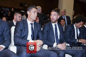 Cristiano Ronaldo , Sergio Ramos - Real Madrid celebrate winning the 2016 Champions League Final - Madrid, Spain - Sunday...