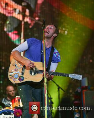 Chris Martin - Coldplay - Main Stage - Radio 1 Big Weekend at Powderham Castle in Exeter, Devon at Powderham...