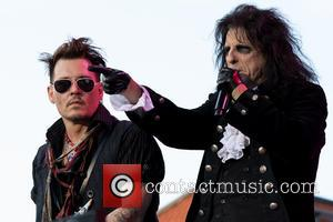 Johnny Depp, Alice Cooper and Hollywood Vampires