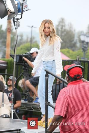 Ashley Tisdale - Ashley Tisdale seen at Universal Studios where she was interviewed by Mario Lopez for television show Extra...