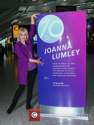 Joanna Lumley - Joanna Lumley unveils her plaque at Heathrow Terminal 5 as part of the airports 70th anniversary celebrations...