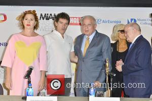Agatha Ruiz De La Prada, Antonio Banderas, Tomas Regalado, Barbara Hulanicki and Dr. Eduardo Padron
