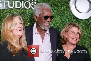 Morgan Freeman, (l-r) Producer Lori Mccreary, Writer Barbara Hall and Cbs