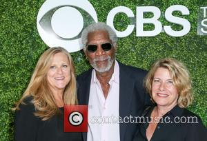 Producer Lori Mccreary, Morgan Freeman and Barbara Hall