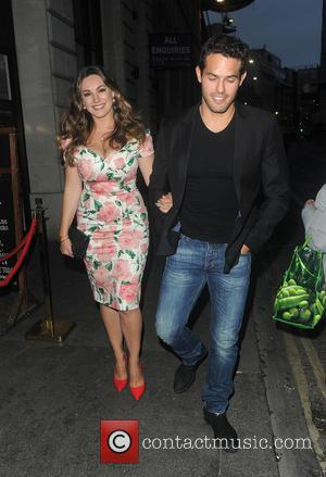 Kelly Brook , Jeremy Parisi - Kelly Brook and boyfriend arriving at Steam & Rye Goes Tropical - party. London....