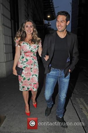 Kelly Brook , Jeremy Parisi - Kelly Brook and her boyfriend Jeremy Parisi arrive at Steam & Rye restaurant -...