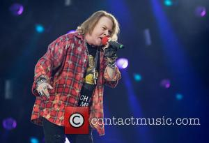 Axl Rose - AC/DC and Axl Rose perform the first night of their UK Tour at the QE2 Olympic Stadium...