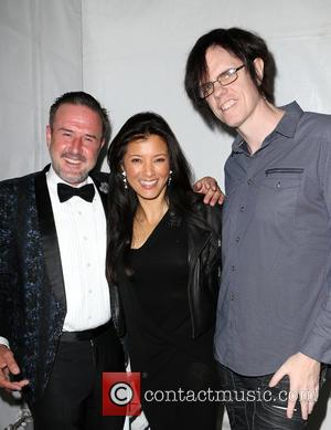 David Arquette and Kelly Hu