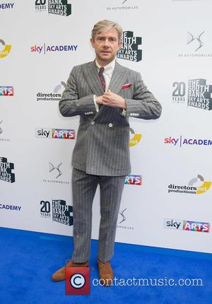 Martin Freeman - Celebrities arrive at the South Bank Sky Arts Awards at the Savoy Hotel in London at The...