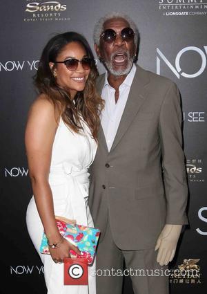 Alexis Freeman and Morgan Freeman