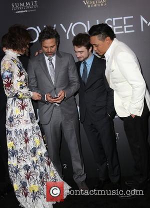 Lizzy Caplan, Mark Ruffalo, Daniel Radcliffe and Jon M. Chu
