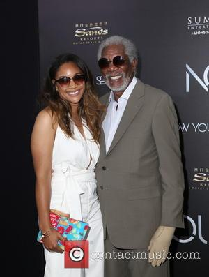 Alexis Freeman (granddaughter) and Morgan Freeman
