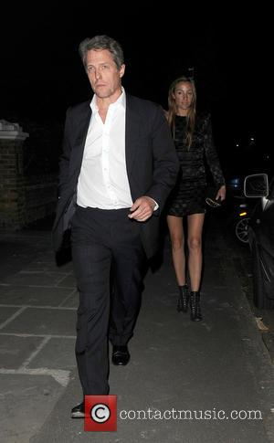 Hugh Grant , Anna Elisabet Eberstein - Celebrities are seen arriving and leaving a party at the home of comedian...
