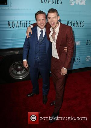 Rafe Spall and Machine Gun Kelly