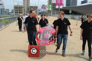 Atmosphere - Rachel Riley meets engineering students from  Shell Eco-marathon at Queen Elisabeth Park at Queen Elisabeth Park -...