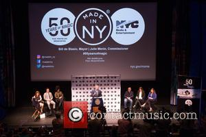 Robert De Niro, Bill De Blasio, Alicia Keys, John Leguizamo, Jane Rosenthal, Julie Menin and Alicia Glen