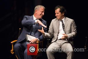 Bill De Blasio and John Leguizamo