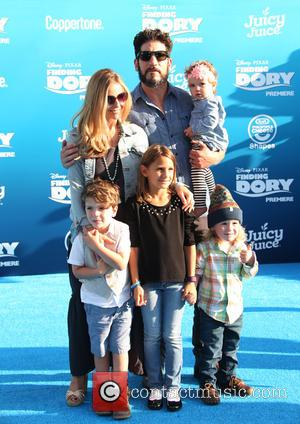Jon Bernthal, Erin Angle , Adeline Bernthal - World premiere of Disney-Pixar's 'Finding Dory' at the El Capitan Theatre -...