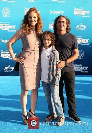 Amy Brenneman, Brad Silberling and Bodhi Russell Silberling