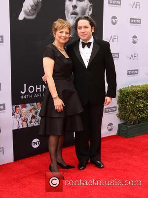 John Williams, Deborah Borda and Gustavo Dudamel