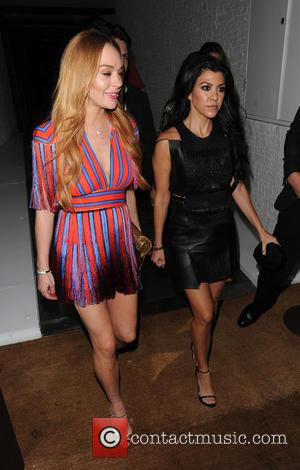 Lindsay Lohan and Kourtney Kardashian