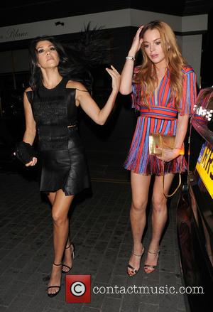 Kourtney Kardashian and Lindsay Lohan