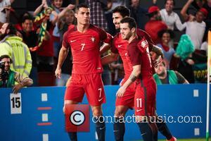 Cristiano Ronaldo, Andre Gomes and Vieirinha