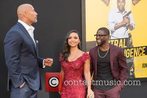 Dwayne Johnson, Danielle Nicolet and Kevin Hart