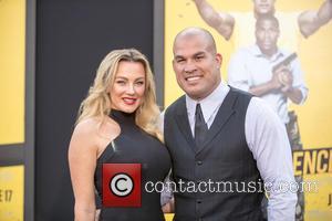 Tito Ortiz and (l-r) Amber Nichole Miller