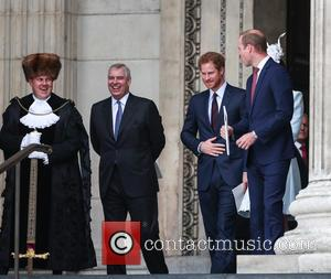 Prince Andrew, Prince Harry, Prince William and Duke Of Cambridge