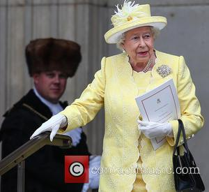 Queen Elizabeth II - The Queen, accompanied by Prince Philip and other members of the Royal Family, attends a Service...