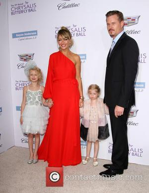 Rebecca Gayheart, Eric Dane, Daughters Billie Beatrice Dane and Georgia Dane