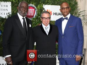 Richard Roundtree, Tico Torres and Samuel L Jackson