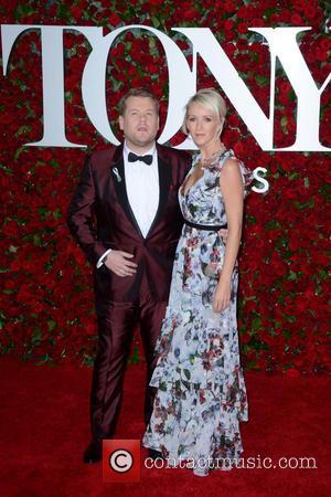 James Corden , Julia Carey - 2016 Tony Awards -  Red Carpet Arrivals at Tony Awards - New York,...