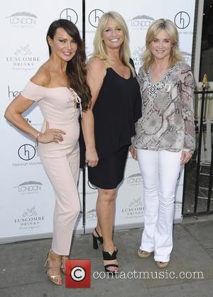 Lizzy Cundy Anthea Turner Deborah Mitchell - various celebrities seen arriving at An Evening with Deborah Mitchell - London, United...