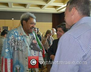 Don King and Mayor Martin Kiar