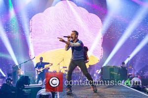 Chris Martin , Coldplay - Coldplay performs live with a fantastic light display at Wembley Stadium at Wembley Stadium -...