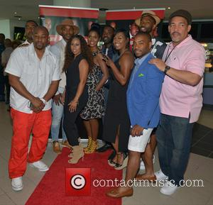 Dennis L.a. White, Harold House Moore, Kiya Roberts, Denise Boutte, Joseph D Fisher and Denyce Lawton at Regal Cinemas South Beach 18 & Imax