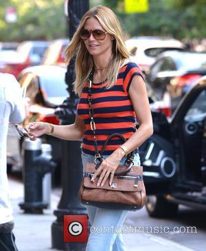 Heidi Klum - Heidi Klum arrives at a hotel in New York with her children - Manhattan, New York, United...