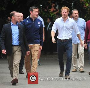 Prince Harry - HRH stayed for about an hour and joined in various games with the under 18 England rugby...