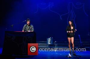 Pentatonix (Scott Hoying, Mitchell Grassi, Kirstin Maldonado, Avi Kaplan , Kevin Olusola) perform live at Coliseu dos Recreios - Lisbon,...