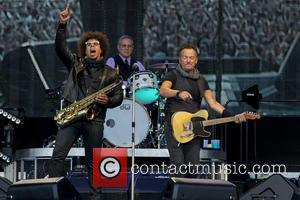 Bruce Springsteen, Max Weinberg and Jake Clemons