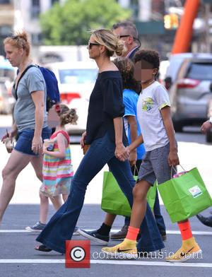 Heidi Klum out and about with her family (Helene Boshoven Samuel, Henry Günther Ademola Dashtu Samuel, Johan Riley Fyodor Taiwo...