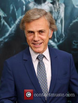 Actor Christoph Waltz poses alone and with his co-stars Alexander Skarsgard, Margot Robbie, Samuel L. Jackson , Djimon Hounsou at...