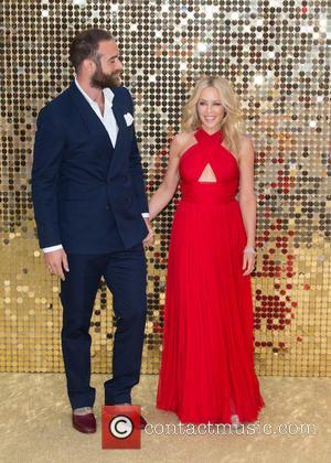 Kylie Minogue and her beau at the World Premiere of Jennifer Saunders and Joanna Lumley's new film  'Absolutely Fabulous:...