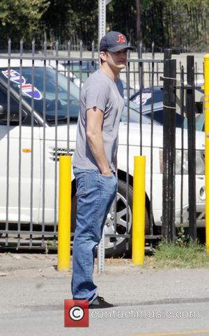 Ashton Kutcher takes his newly pregnant wife Mila Kunis and their young daughter, Wyatt Isabelle Kutcher, to Cuccina Mexican restaurant...