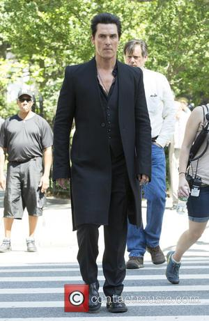 Cast and crew including Matthew McConaughey seen shooting 'The Dark Tower' on location at Madison Park, NY. The Dark Tower...