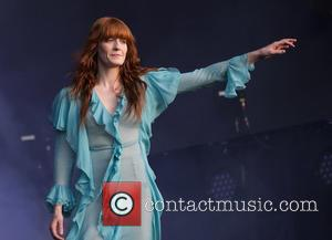 Florence Welch and the rest of Florence and the Machine performing at British Summer Time Festival in Hyde Park. A...